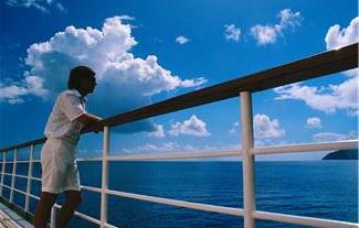 Photo of a traveler on a cruise